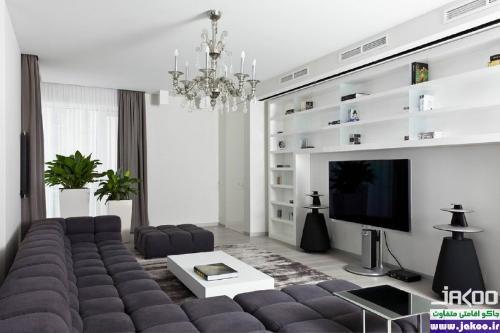 بزرگ تر کردن فضای آپارتمان های کوچک بوسیله طراحی داخلی