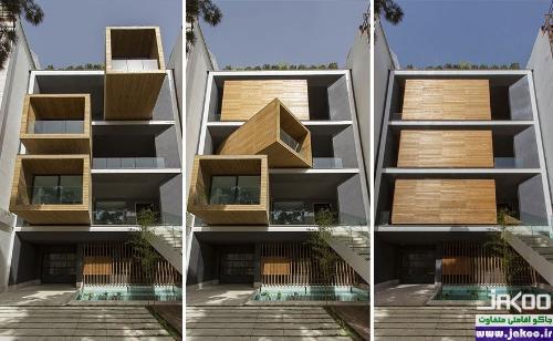 آپارتمان متحرک به شکل مکعب گردان در تهران