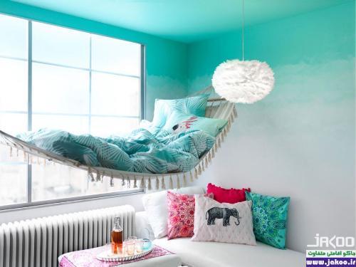 استفاده از رنگهای روشن برای دیوارها جهت بزرگتر نشان دادن منزل