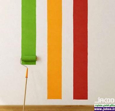 رنگ کردن دیوارهای خانه برای ایجاد تغییر در دکوراسیون