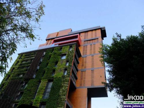 باغچه های سرسبز ستونی در خانه ها