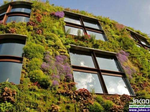فضای سبز ستونی در فضای محدود آپارتمان ها