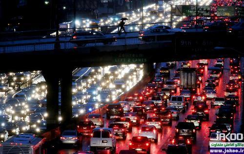 رانندگی در شهر پر ترافیک مسکو