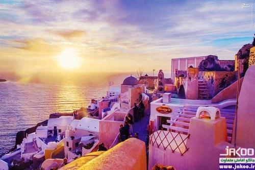 رمانتیک ترین و دنج ترین مقصد گردشگری دنیا، جزیره زیبای سانتورینی در دریای اژه