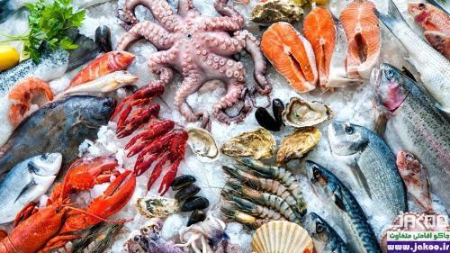 غذاهای دریایی جزیره ی زیبای سانتورینی یونان