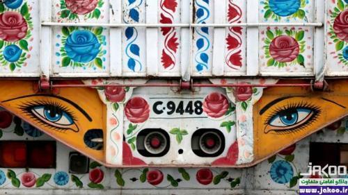 تزئین شکل کامیون ها با هنرهای اسلامی