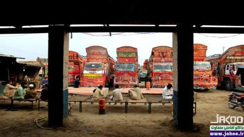 نقاشی و تزئین کامیون های پاکستانی