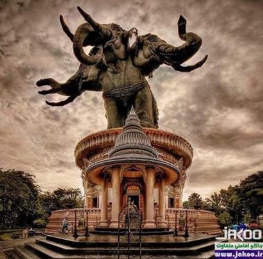 فیل عظیم الجثه برنزی اَروان