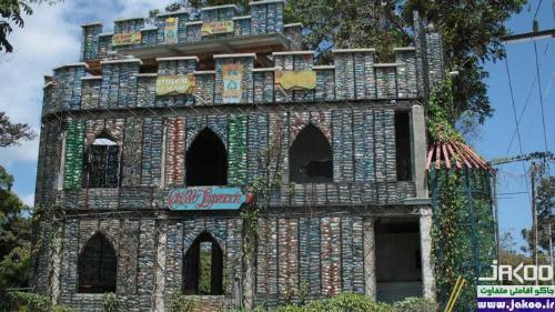 ساخت قلعه از میلیونها تن پلاستیک آلوده کننده محیط زیست