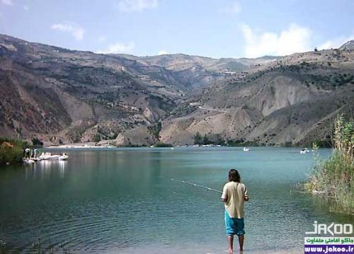 ماهیگیری در دریاچه تار دماوند
