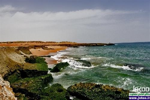 تلاقی بین کویر و دریا در روستای درک