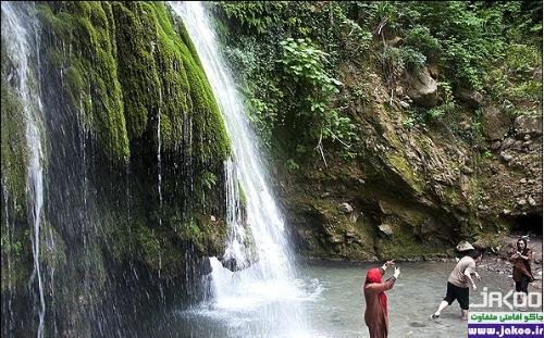 آبشار زیبای کبودوال با تنوع گونههای گیاهی و چشمههای فراوان