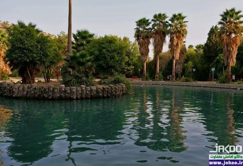 پوشش گیاهی متنوع باغ چشمه بلقیس