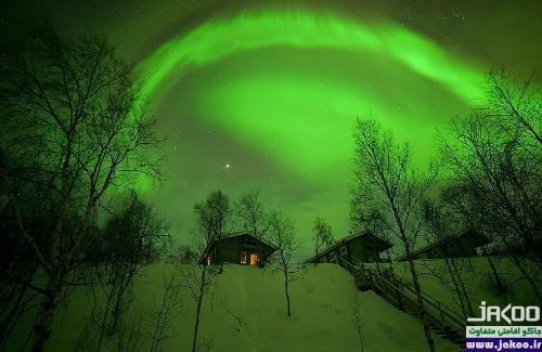 تماشای شفق قطبی در قطب شمال