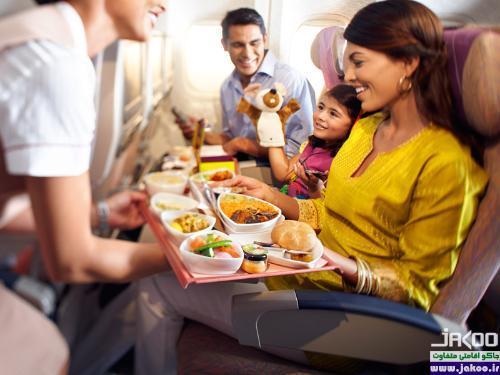 خوراکی های مضر در پرواز هوایی
